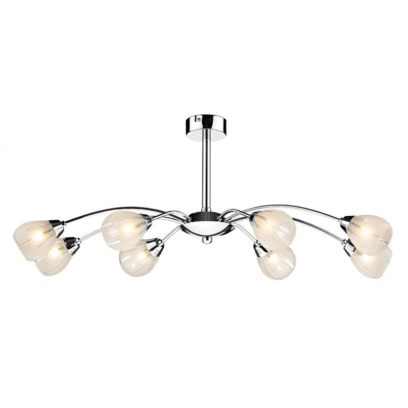 Villa 8 Light Fitting - Polished Chrome