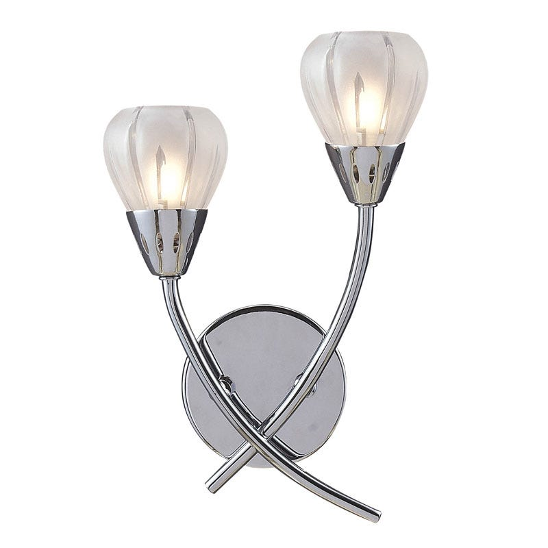 Villa 2 Light Wall Light - Polished Chrome