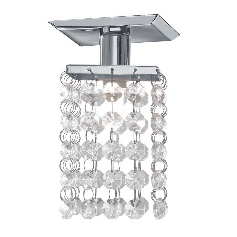 Pyton 1 Light Crystal Ceiling Flush