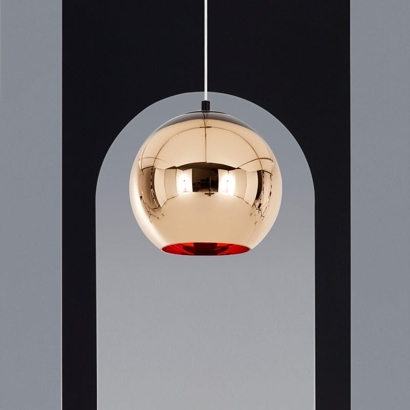 Tom Dixon Copper Ceiling Pendant Light - Pure Brass