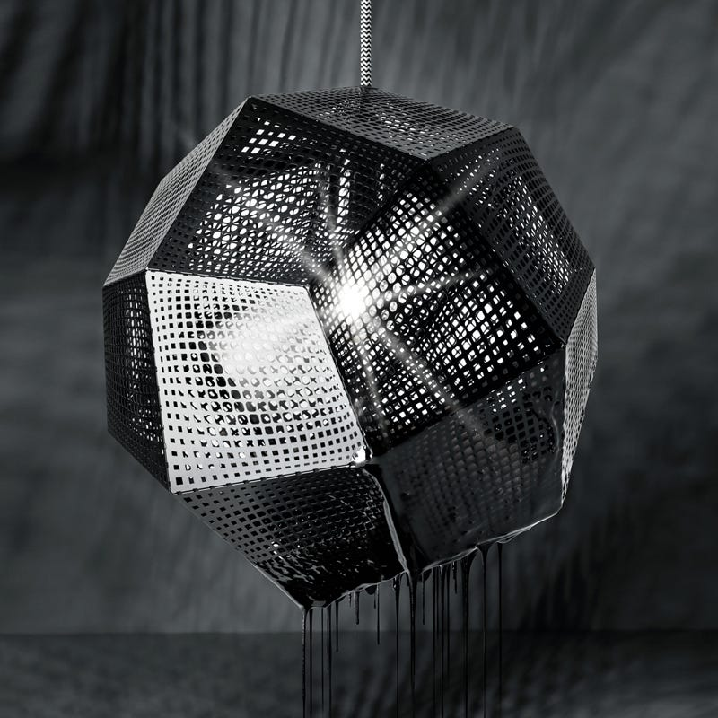 Tom Dixon Etch Ceiling Pendant Light - Black