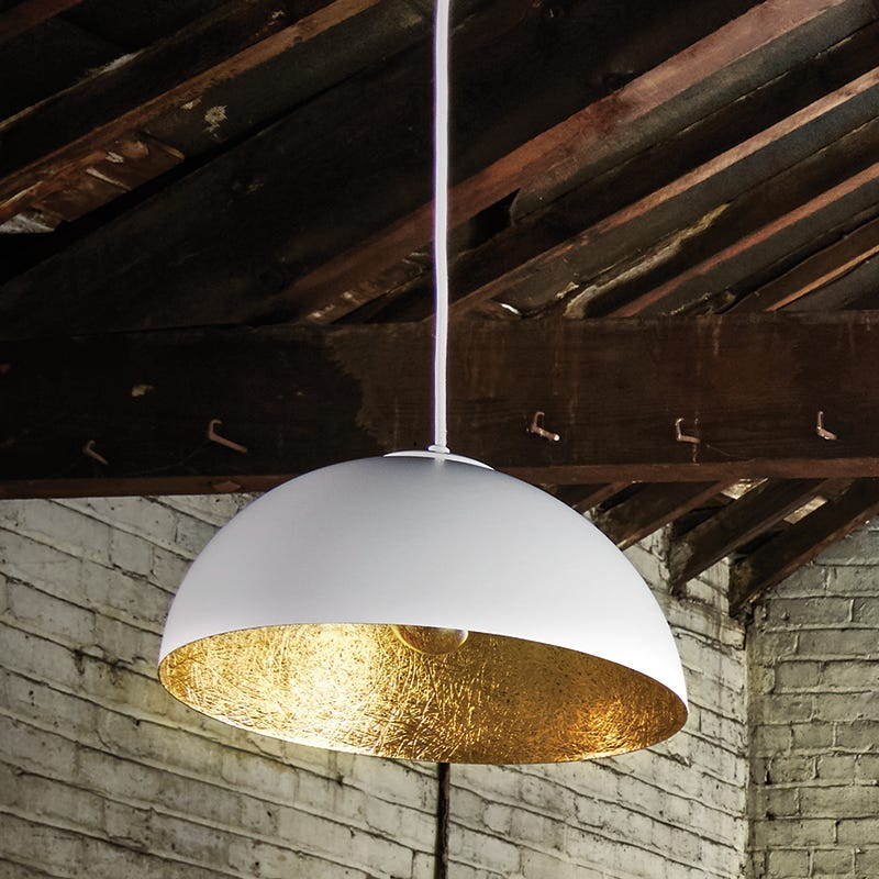 Edit Rondure Ceiling Pendant Light  White and Gold