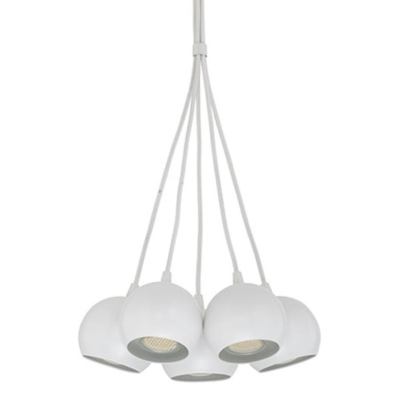 Industrial Cluster 5 Light Ceiling Pendant White Best