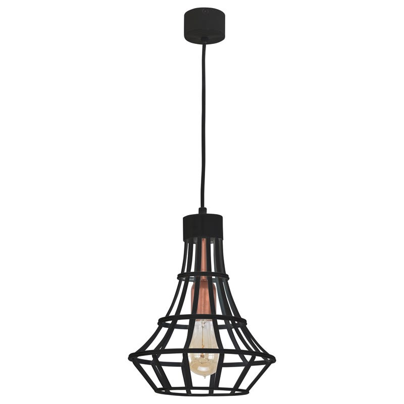 Edit Bird Cage Large Ceiling Pendant Light  Black