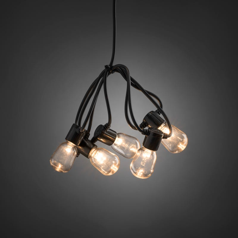 Konstsmide 20 LED Festoon Light - Clear Oval Bulbs