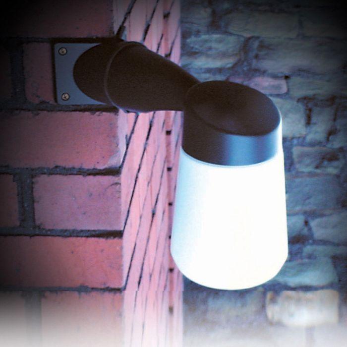 Eterna Well LED Outdoor Corner Wall Light - Black
