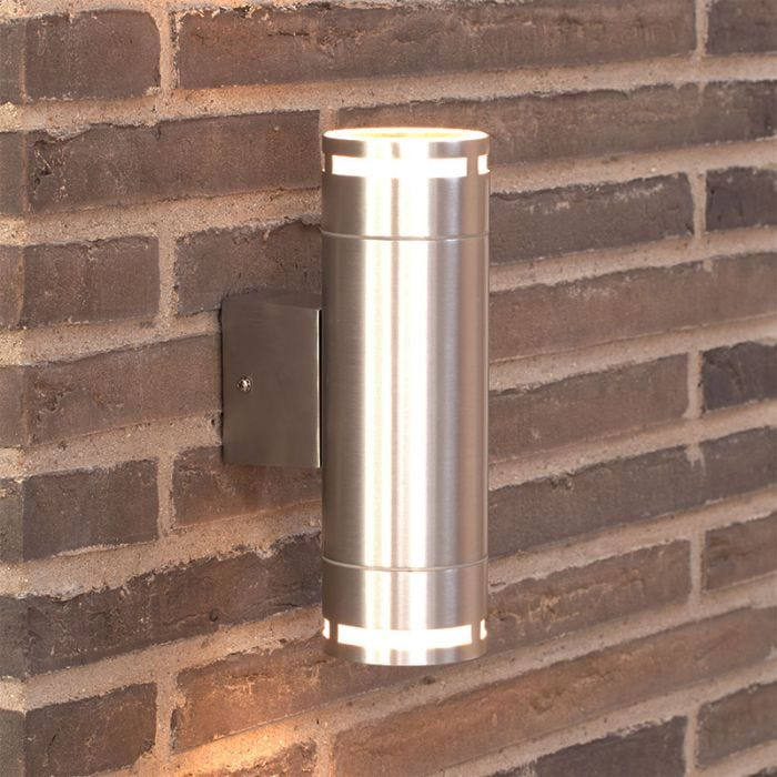 Nordlux Can Maxi Twin Outdoor Wall Light - Silver