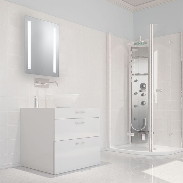 Searchlight Touch Controlled Mirror Light with Shaver Socket