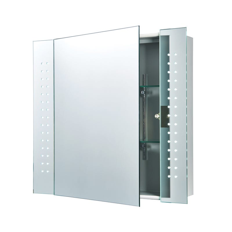 Endon Revelo LED Illuminated Mirror Cabinet with Shaver Socket