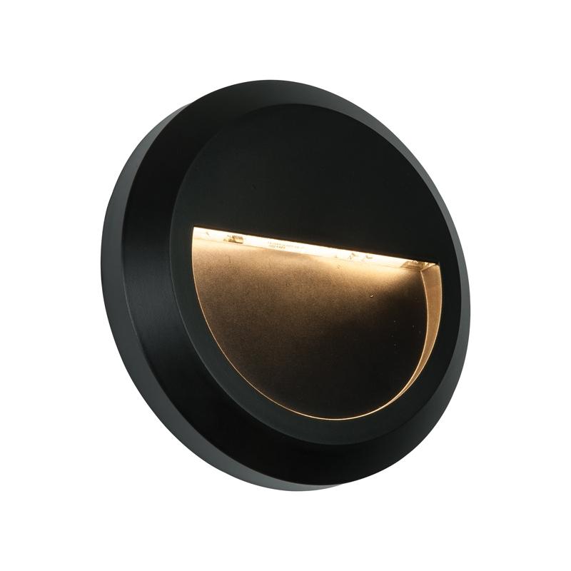 Endon Severus Warm White LED Outdoor Wall Light - Round