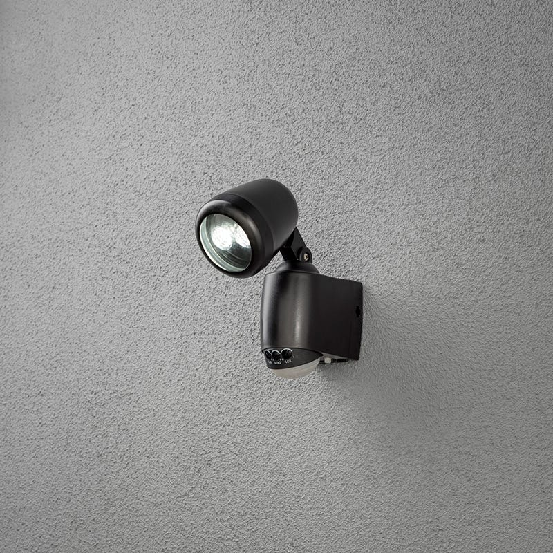 SALE on Konstsmide Prato Battery Operated Warm White LED Outdoor Wall Light With PIR - Konstsmide.