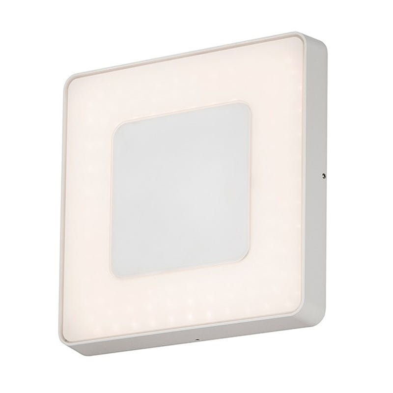 Konstsmide Carrara High Power Dimmable LED Outdoor Flush Light with Remote Control