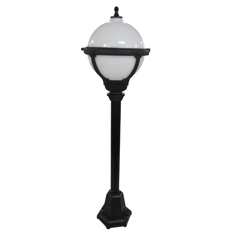 ASD Globe Outdoor Post Light - Black