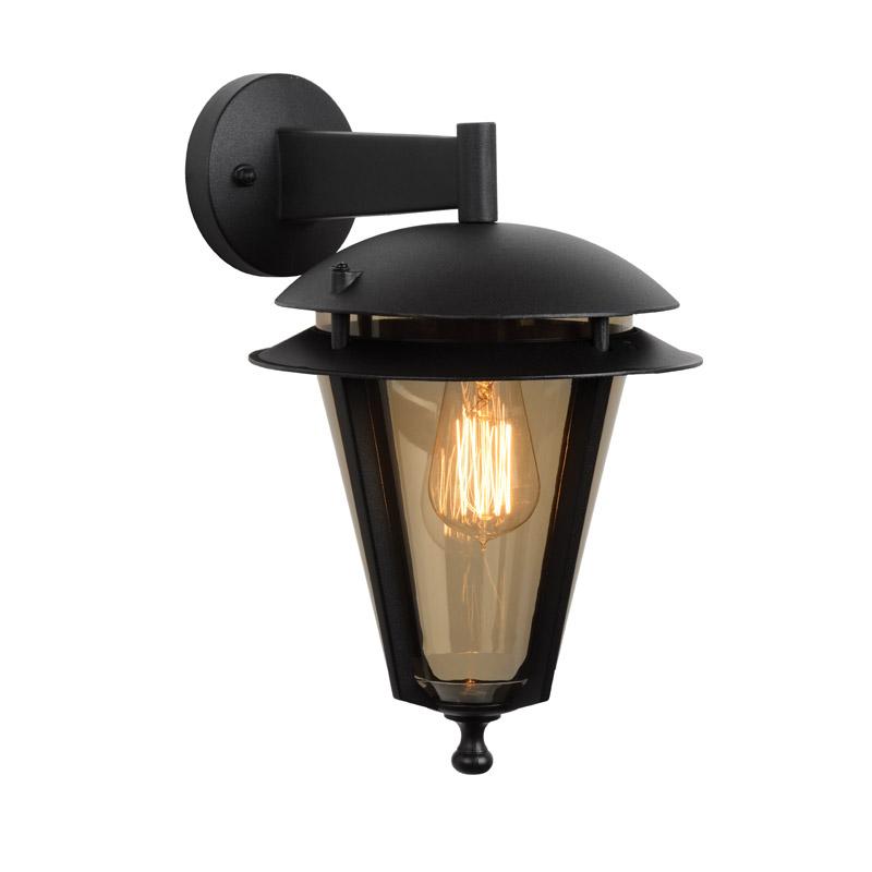 Lucide Laguna Outdoor Hanging Lantern Wall Light  Black