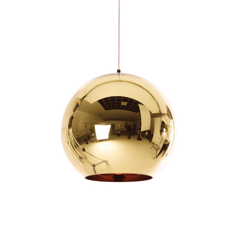 Tom Dixon Copper Ceiling Pendant Light - Bronze - Large