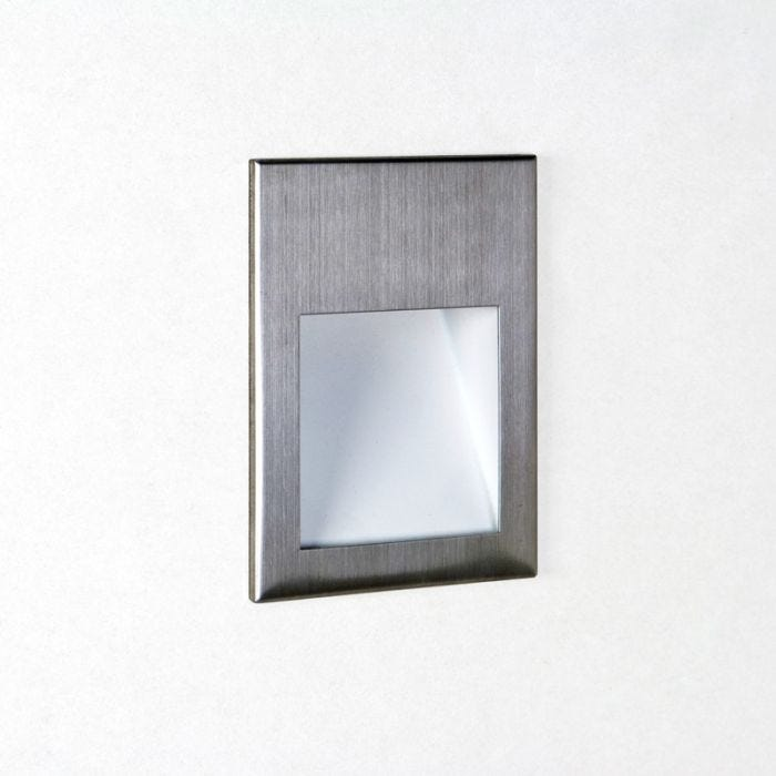 Astro Borgo 90 LED Recessed Wall Light - Brushed Stainless