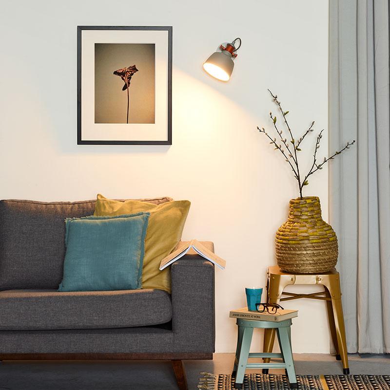 Lucide Tjoll Wall Light - Grey