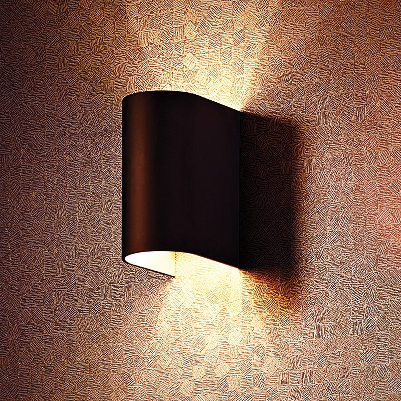 Luster Round Wall Light - Black