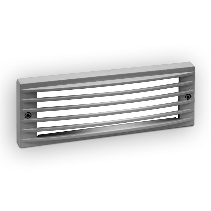 Lutec Victoria Grille LED Outdoor Brick Light - Grey