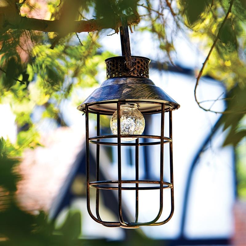Zephyr Outdoor LED Solar Lantern  Antique Bronze