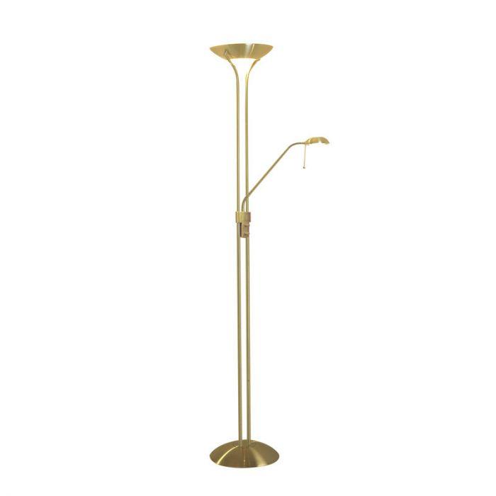 Dar Montana Floor Lamp  Satin Brass