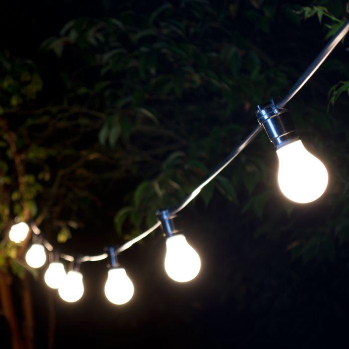 Lamps & Lights Weatherproof Festoon Lighting - 8 Black Bulb Holders