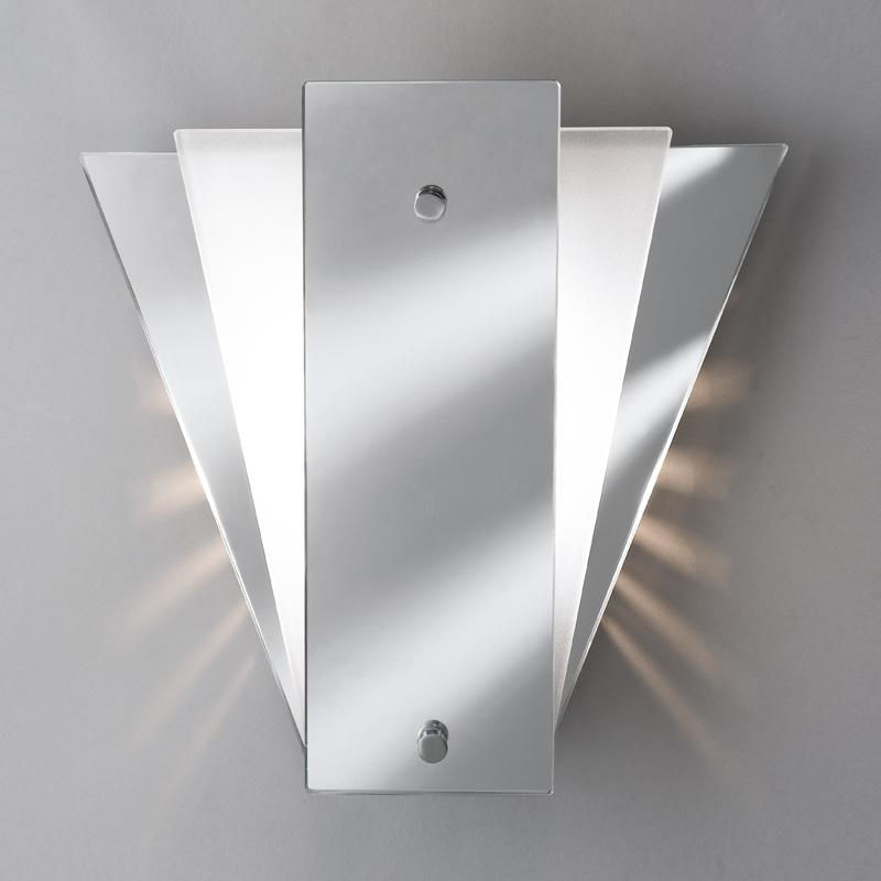 Searchlight Fan Mirror Wall Light - White