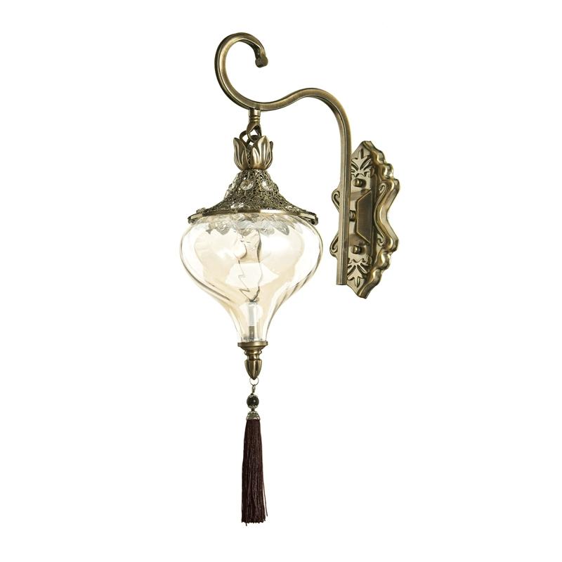 Harem Wall Light - Antique Brass