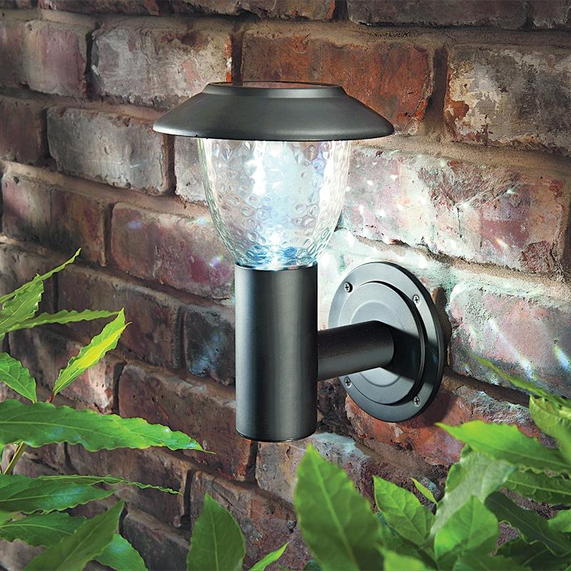 Cole and Bright LED Solar Outdoor Wall Light - Matt Black