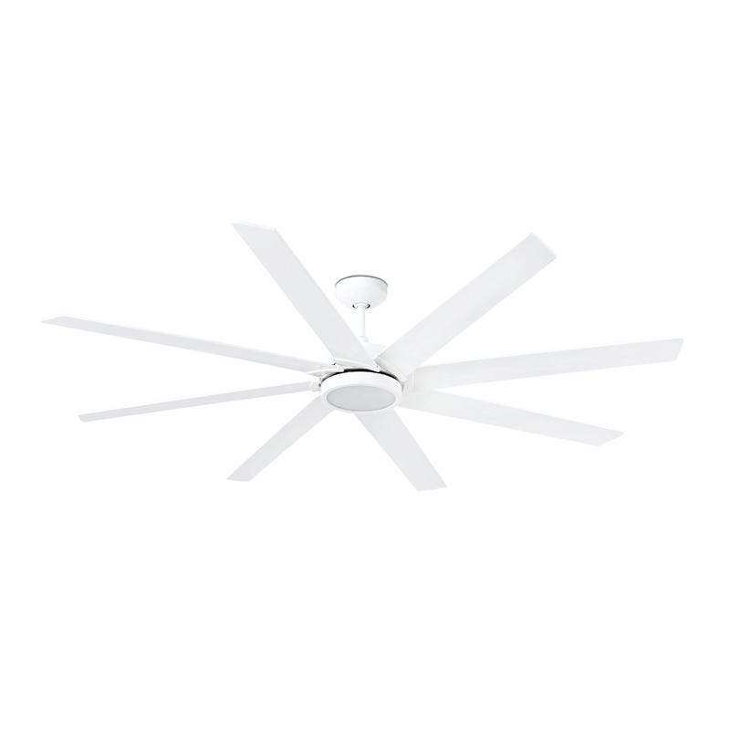 Faro Barcelona Century Ceiling Fan with LED Light and Remote Control - White