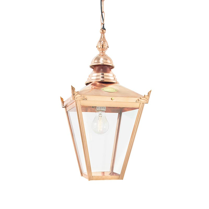 Norlys Chelsea Outdoor Porch Pendant Light - Polished Copper