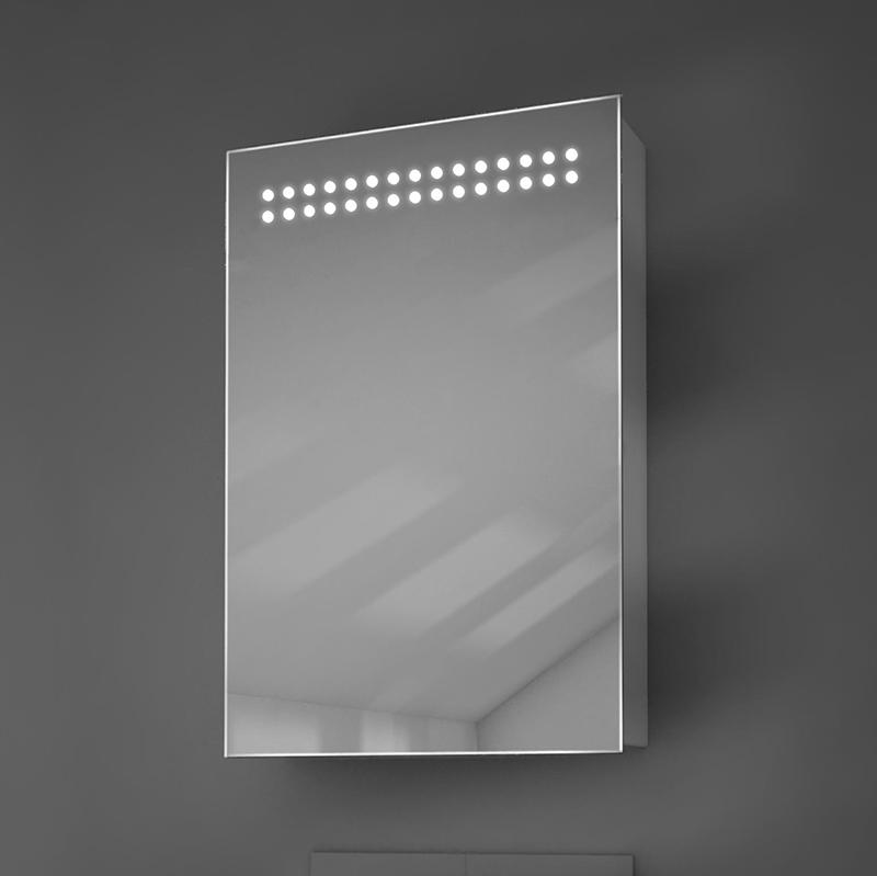 Diamond X Jewel LED Illuminated Mirror Cabinet
