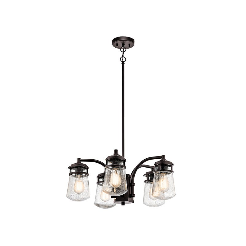 Kichler Lyndon 5 Light Outdoor Chandelier - Architectural Bronze