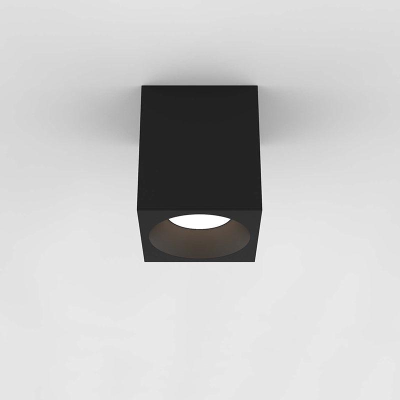 Astro Kos 140 Square LED Ceiling Spotlight - Textured Black