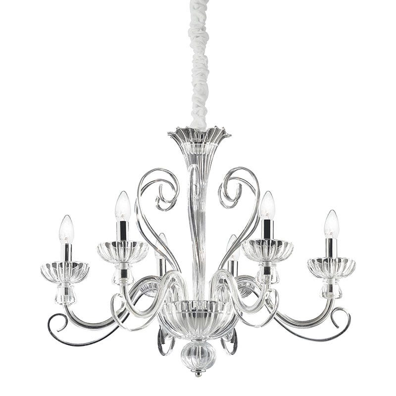 Alexander 6 Light Chandelier - Clear Glass