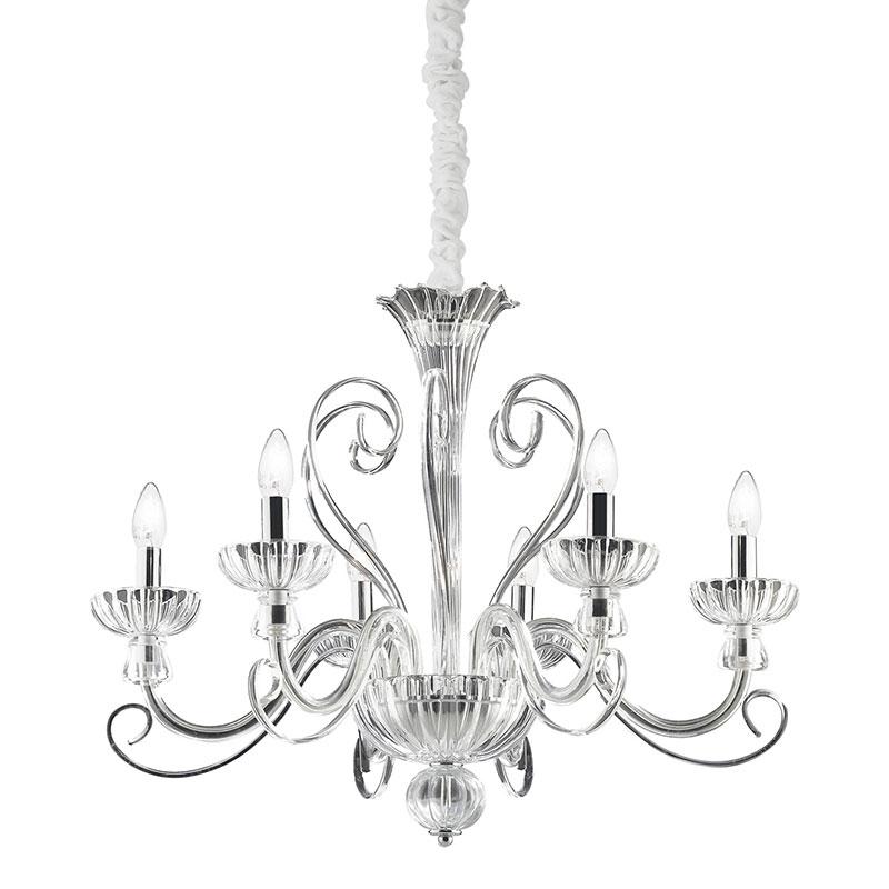 Alexander 6 Light Chandelier - Clear Glass