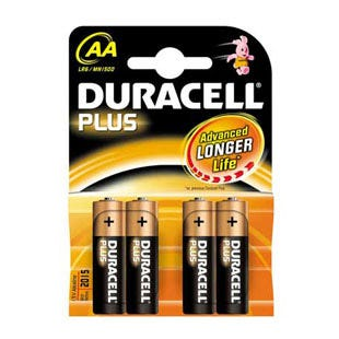 Duracell Plus AA Batteries  Pack of 4