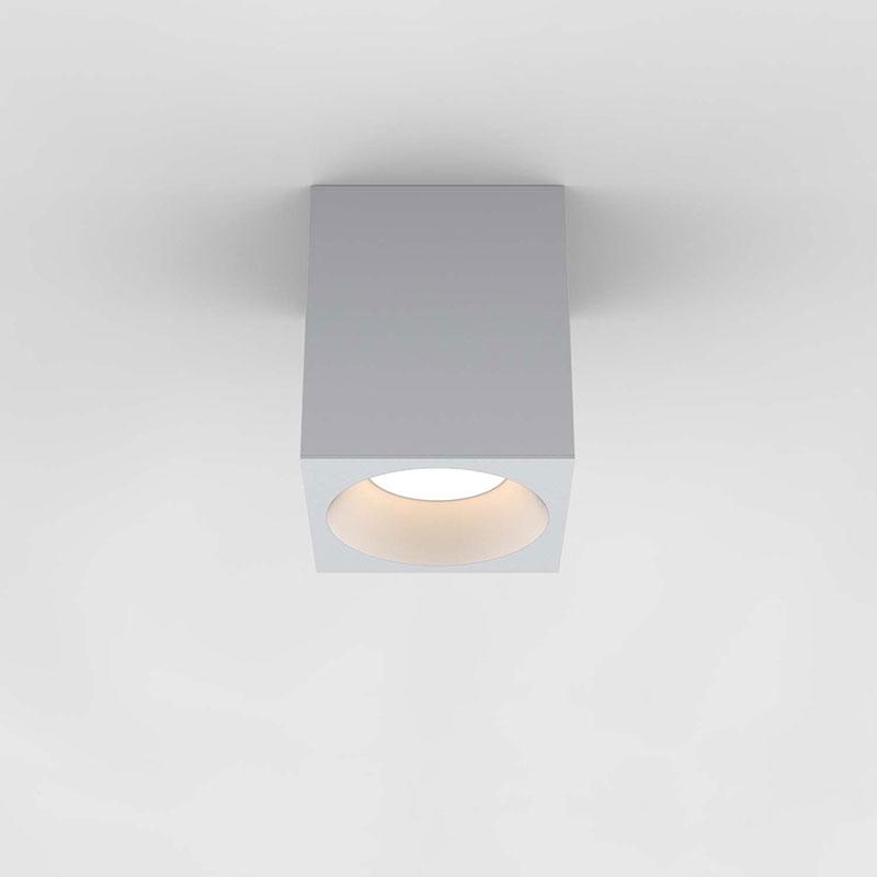 Astro Kos 140 Square LED Ceiling Spotlight - Textured White