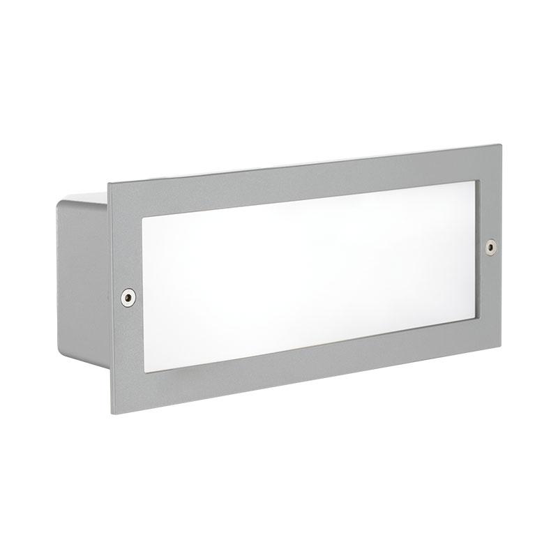 Eglo Zimba Outdoor Brick Light - Silver