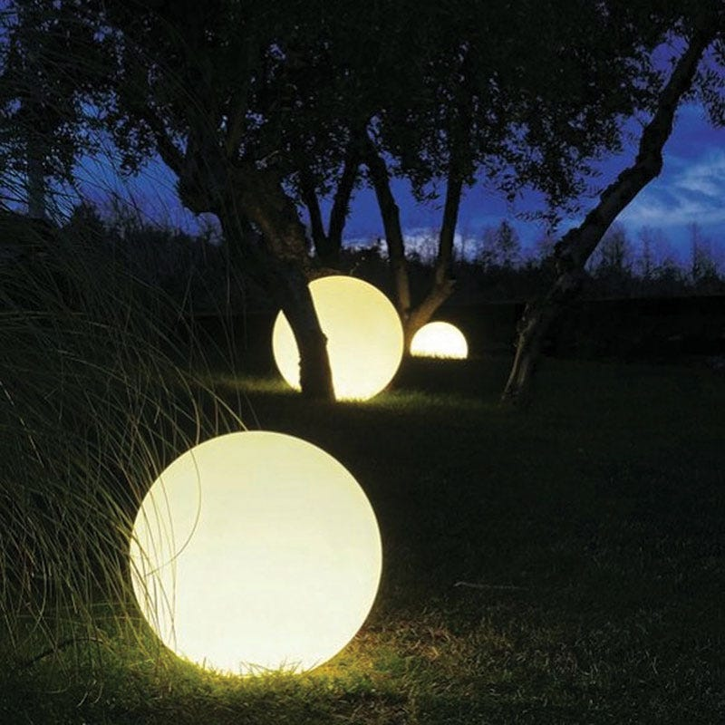 Globe Outdoor Feature Light - White
