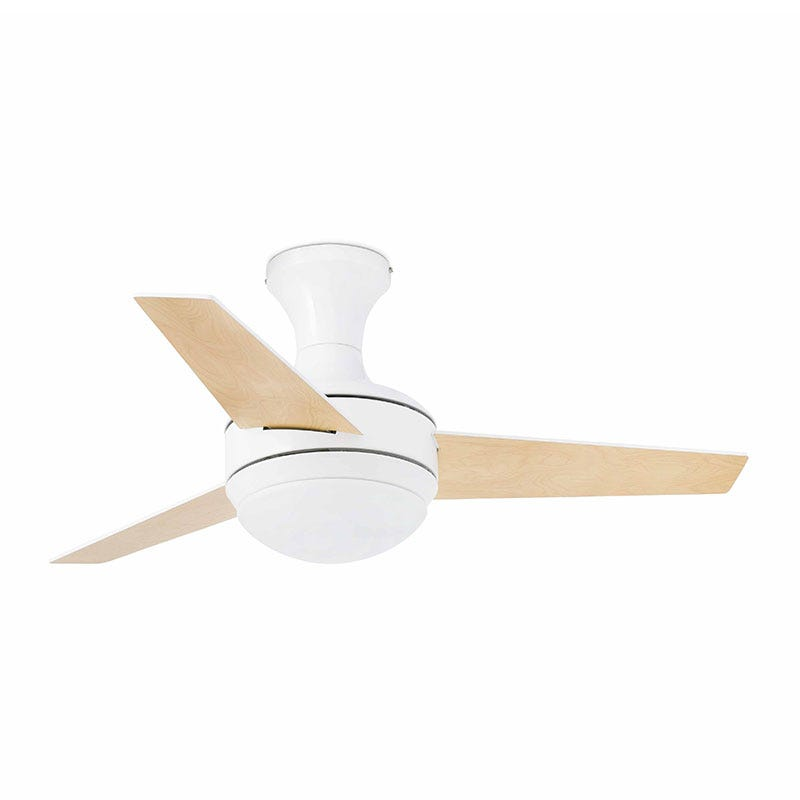 Faro Barcelona Mini UFO Ceiling Fan with Light and Remote Control - White
