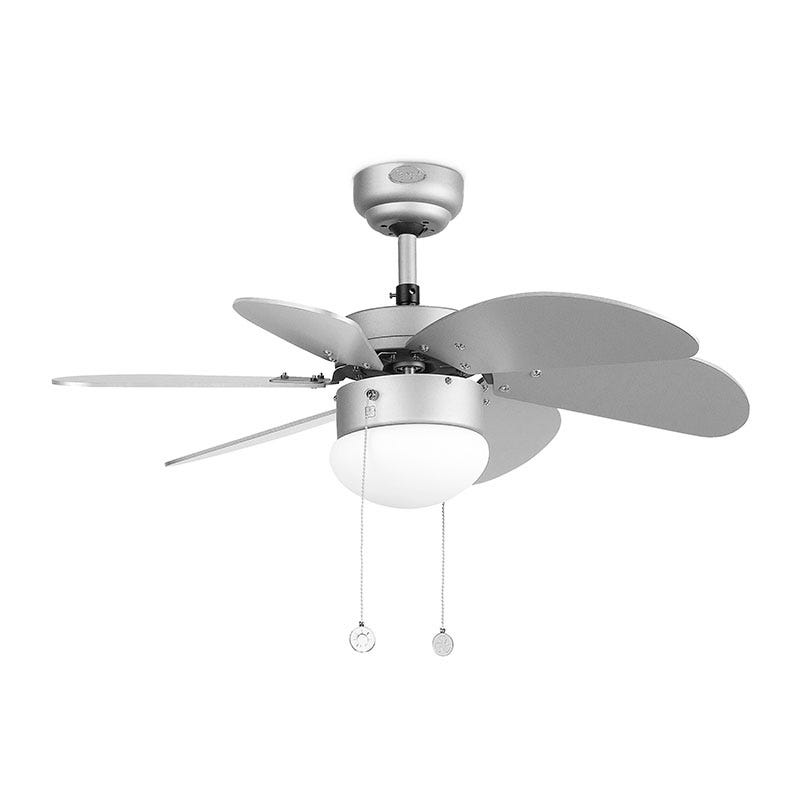 Faro Barcelona Palao Ceiling Fan with Light - Grey