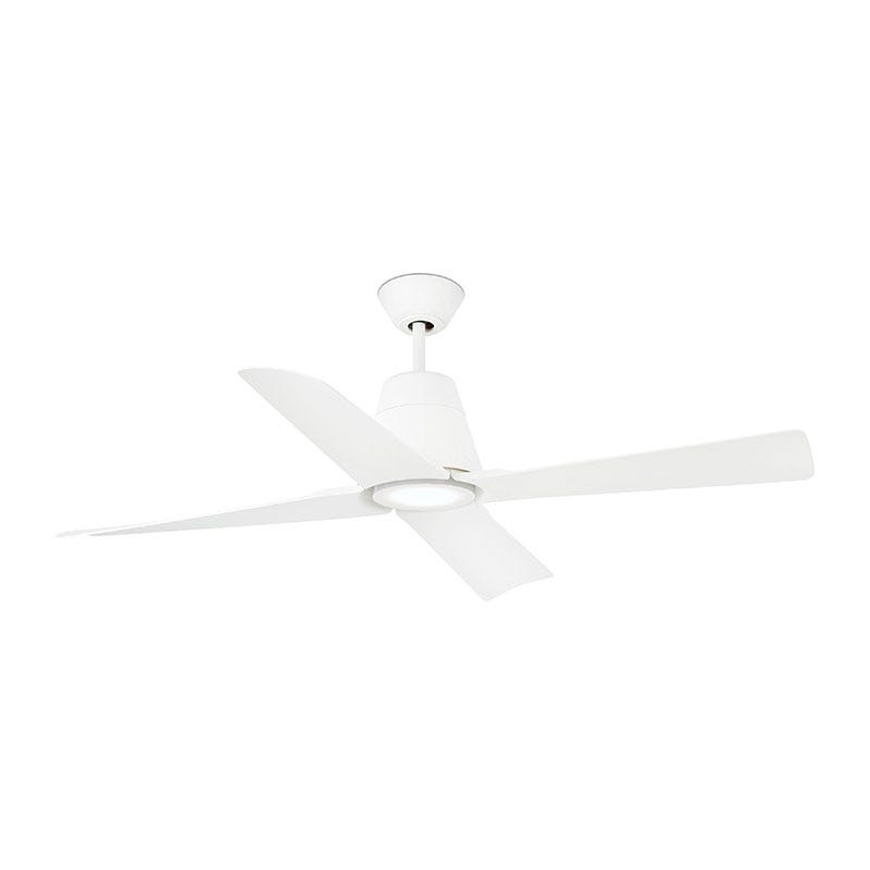 Faro Barcelona Typhoon Ceiling Fan with LED Light and Remote Control - White