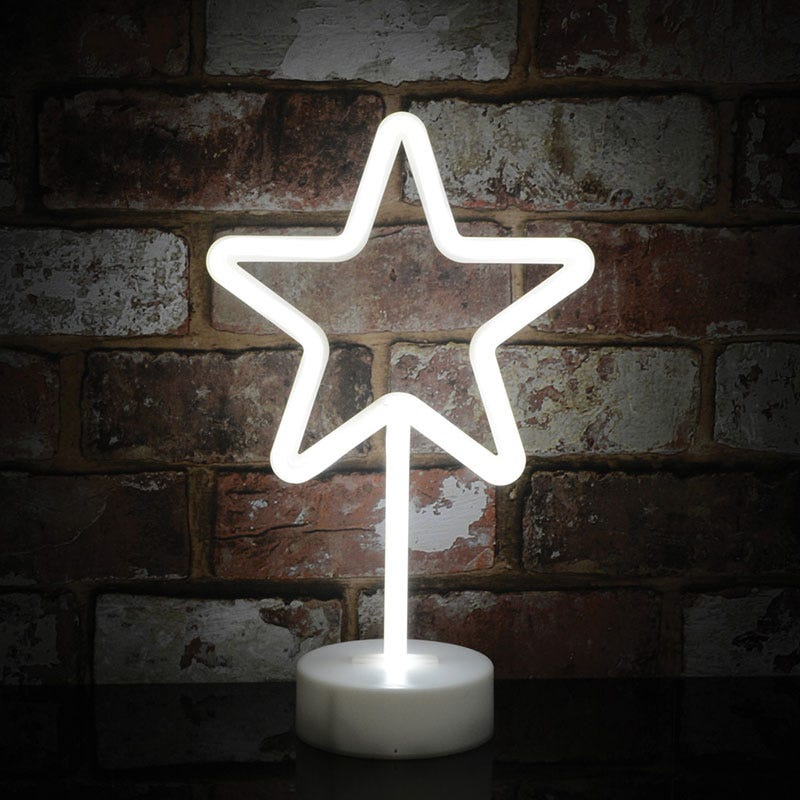 Edit Star Neon Battery Operated LED Table Feature Light