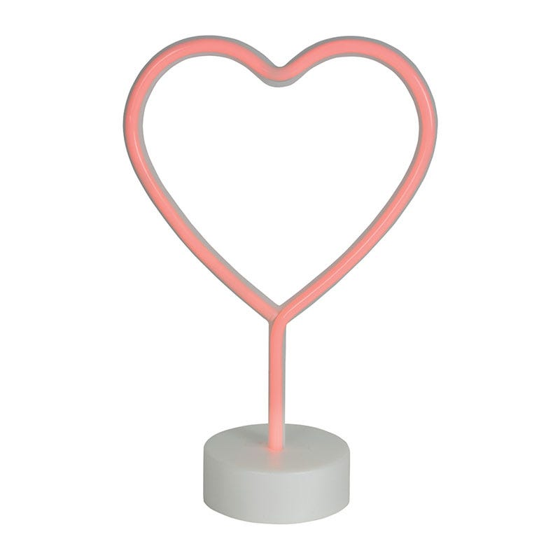 Edit Heart Neon Battery Operated LED Table Feature Light