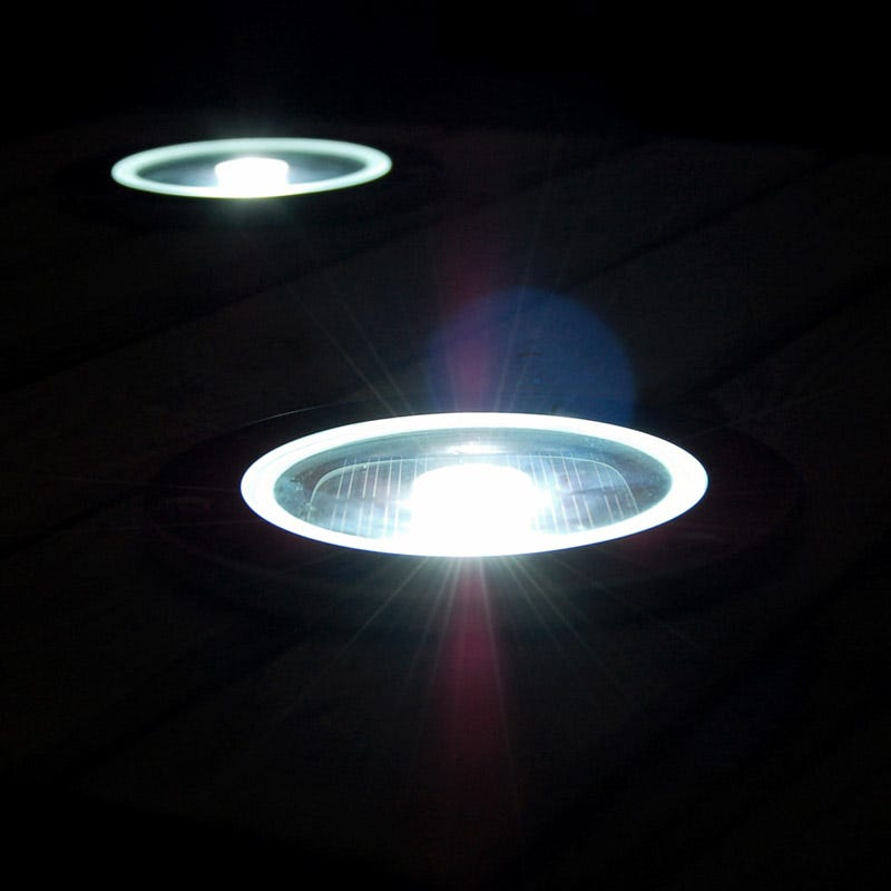 Solarcentre Solar LED Deck Light with Dusk to Dawn Sensor - Round