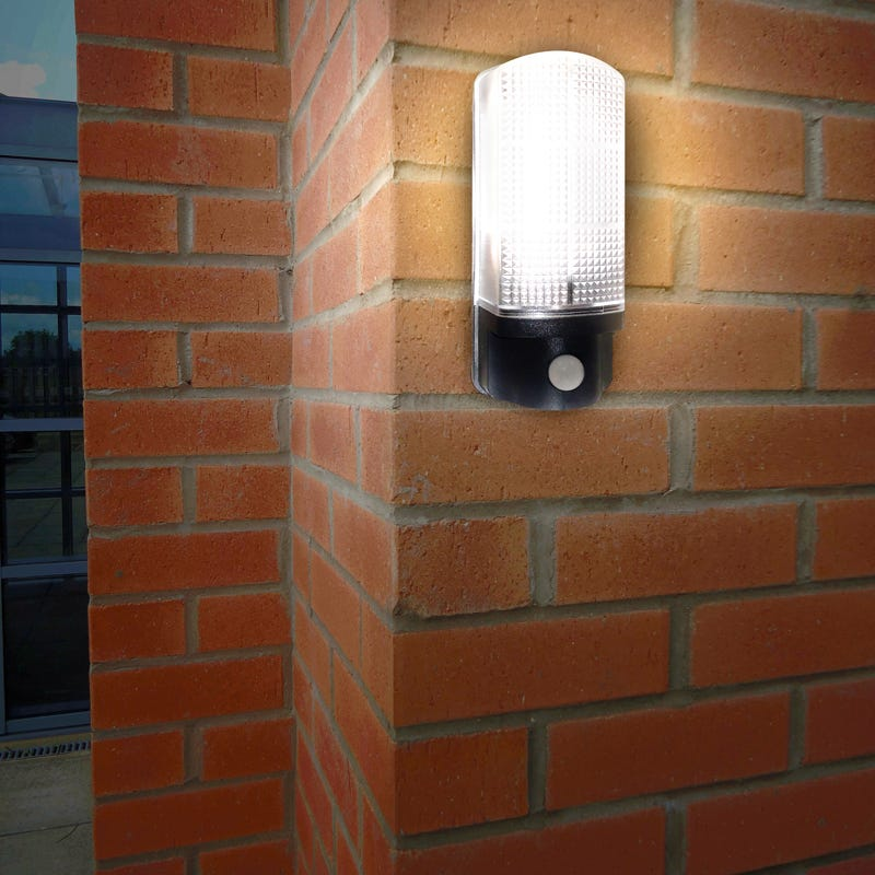 SALE On Eterna 7W Warm White LED Outdoor Wall Light With PIR Sensor