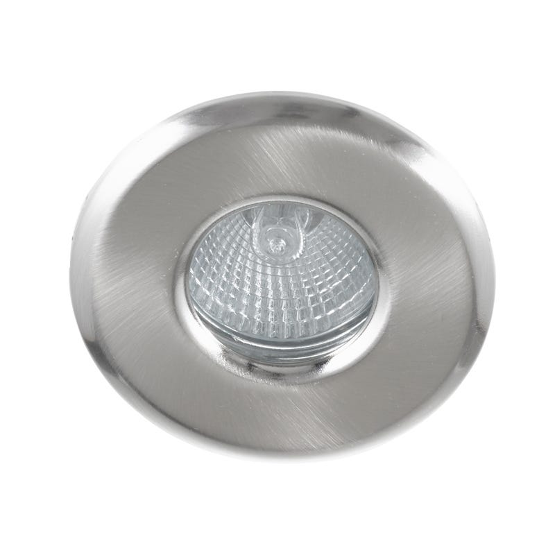 Eterna Fire Rated GU10 Shower Light - Satin Nickel