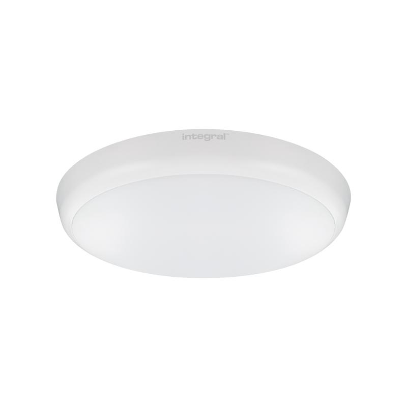 Integral 12W Cool White LED Slimline Flush Light with Microwave Sensor