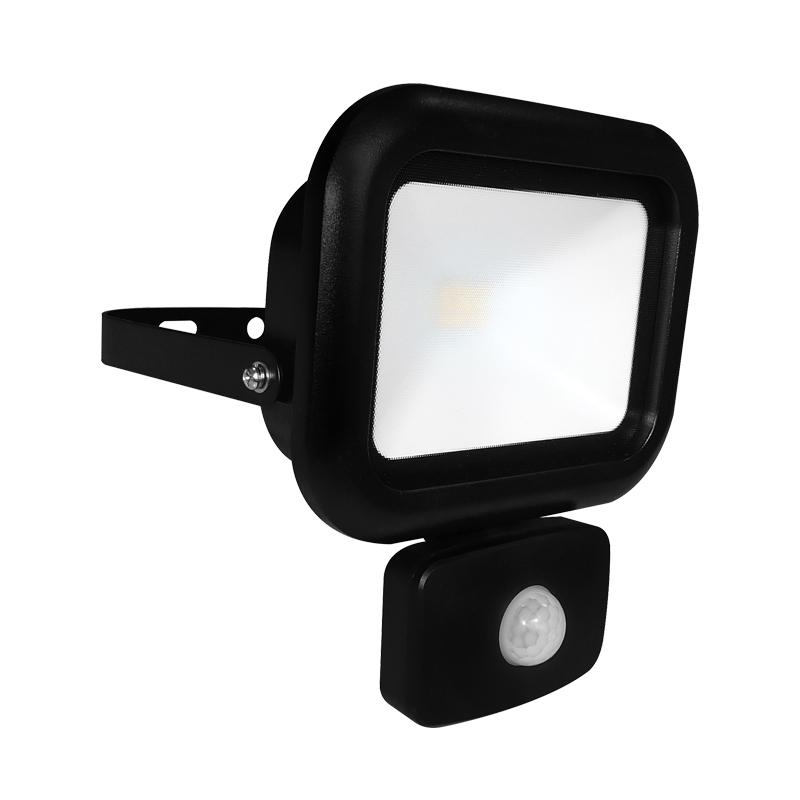 Eterna Slimline 10W Cool White LED Compact Floodlight with PIR Sensor